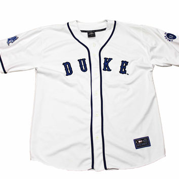 detailed look 793e9 8c720 Vintage 90s Duke Blue Devils Baseball Jersey Mens Size XL