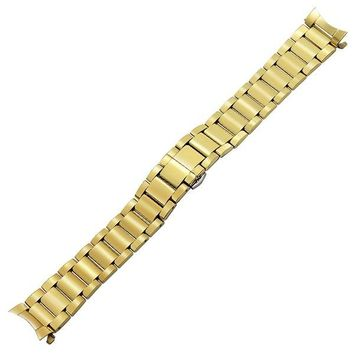 Curved End Stainless Steel Watchband + Tool for Citizen Seiko Casio Hamilton Watch Band Butterfly Buckle Wrist Strap 18 20 22mm