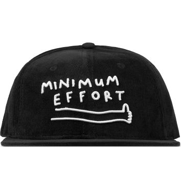 LAZY OAF Black Minimum Effort Cap | HBX.