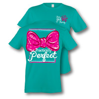 Itsa girl Thing Funny Practically Perfect Big Bow Southern Bright Girlie T-Shirt