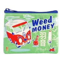 Weed Money Coin Purse (Also Perfect for Small Makeup Items)