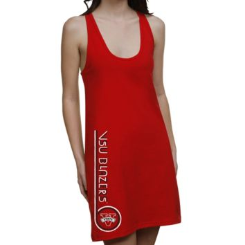 Valdosta State Blazers Ladies Retro Junior's Racerback Dress - Red