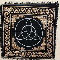 Magic Goddess Celtic Knot Triquetra Wicca Pagan Altar Tarot Cloth Tapestry