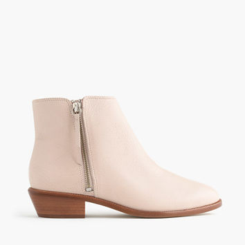 J.Crew Womens Frankie Tumbled Leather Ankle Boots