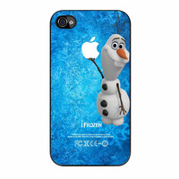 Disney Frozen Olaf Apple Logo iPhone 4s Case