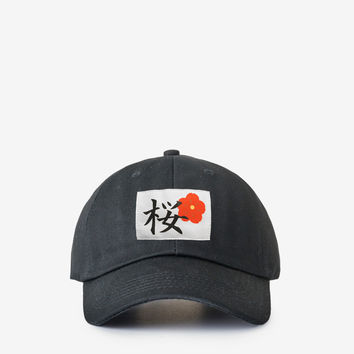 Cherry Blossom Cap in Black