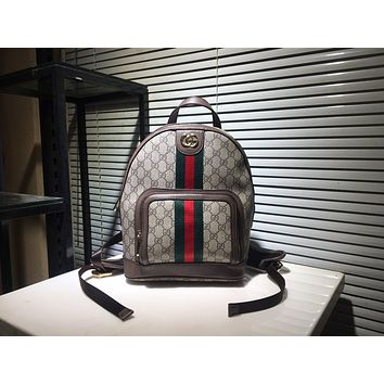 GUCCI WOMEN'S GG SUPREME CANVAS OPHIDIA BACKPACK BAG