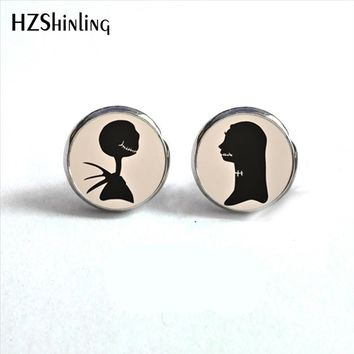 ED-0046 New Arrival Jack Skellington and Sally Stud Earring The Nightmare Before Christmas Earrings Girl Boyfriend Earring