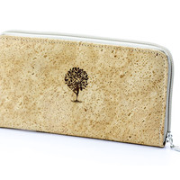 Women's Cork Zip Wallet