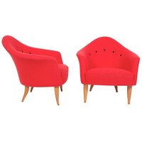 Pair of Paradise Easy Chairs by Kerstin Horlin Holmquist