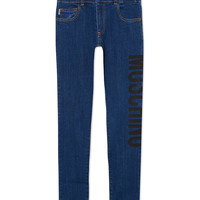 MOSCHINO Logo cotton jeans 4-14 years