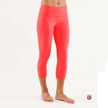 Lululemon Wunder Under Crop Women Sport Leggings Pants Trousers-3