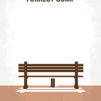 No193 My Forrest Gump minimal movie poster Art Print by Chungkong