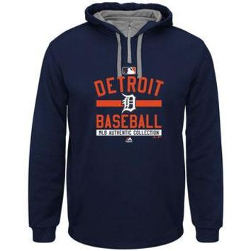 Detroit Tigers Majestic MLB Navy Team Property Pullover Hoodie