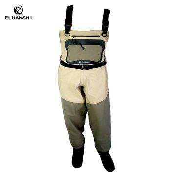 Light-Weight Feather Fly accessories set Waders for men Additional Stream fishing rod carbon chest breathable overalls boots