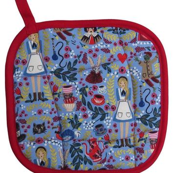 Collisionware Handmade Alice In Wonderland Pot Holder