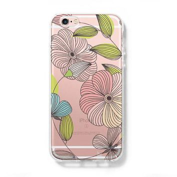 Flowers iPhone 6 Case iPhone 6+ SE Case Galaxy S6 Edge Clear Hard Case C169