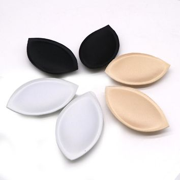 1pair  Sponge Swimsuit Padding Inserts Breast Enhancer To Bra Push Up Breast Pads Bikini Padding Removeable Pads Breast Enhancer