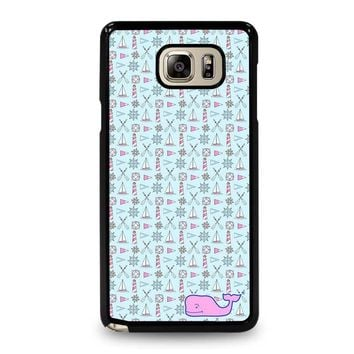 WHALE KATE SPADE PATTERN Samsung Galaxy Note 5 Case Cover