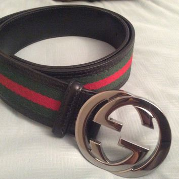 100% Authentic Gucci belt Large men 34 85 CM black $400