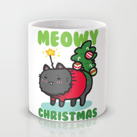 Meowy Christmas Mug by LookHUMAN
