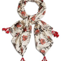 Lucky Brand Ekani Floral Scarf Womens - Natural (One Size)