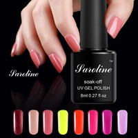 Saroline 29 Colors Gel Polish 8ML Gray Series Healthy Fashion Nail Gel Lacquer Nail Art Long Lasting UV Gel Nail Polish