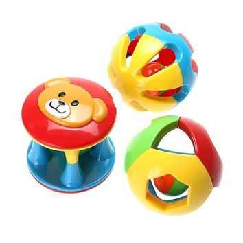 Baby Rattles Jingle Ball Ring Toy