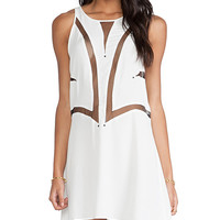 bless'ed are the meek Fine Line Dress in White