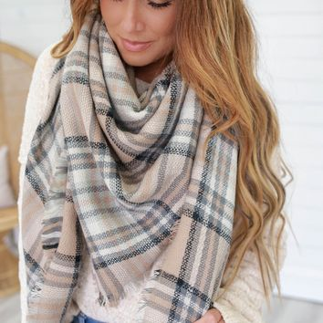 Falling Leaves Scarf - Beige