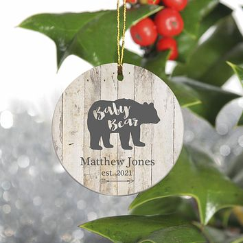 Personalized Family Ornament - Christmas - Bear Family