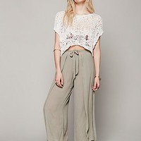Free People Womens Wrapped Crop Wideleg - Dusty