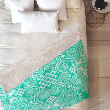 Budi Kwan Decographic Mint Fleece Throw Blanket