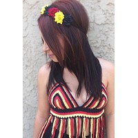 German Flower Headband #C1066