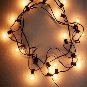Black Cord Globe String Lights | Urban Outfitters