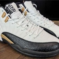 DCCKL8A Jacklish Air Jordan 12 Chinese New Year White/black-varsity Red-light Orewood Brown