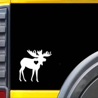 Moose Decal Sticker *J465*