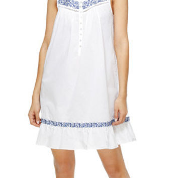 Eileen West 100% lawn cotton short gown in Concerto E5316032