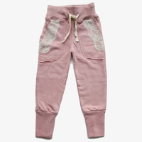 Vierra Rose Joann Lace Pocket Sweatpant in Rose - FINAL SALE