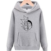 High-Q Unisex cotton cartoon Rick and Morty Hoodies jacket coat Sweatshirts lovers Rick and Morty Hoodies Sweatshirts coat