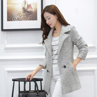 Fashion new autumn and winter suit cloth coat female Korean thin wool coat thick coat slim tide = 1956392900