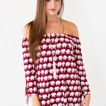The Denny Off The Shoulder Tunic