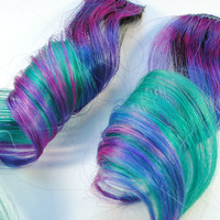 Alien Angel / Human Hair Extension / Purple Blue by MissVioletLace