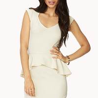 Charming Peplum Dress
