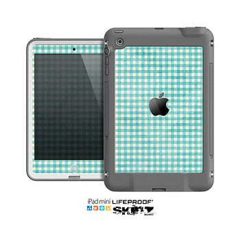 The Vintage Blue Plaid Skin for the Apple iPad Mini LifeProof Case