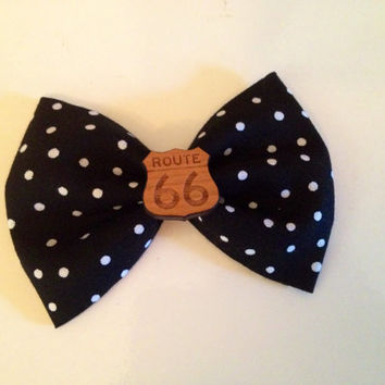 Route 66 hair bow