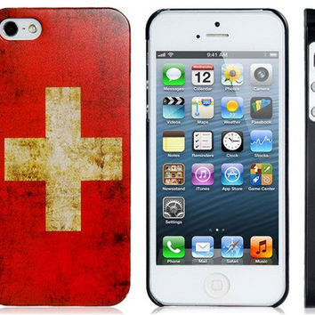 Switzerland Flag Plastic Case for iPhone 5S/S