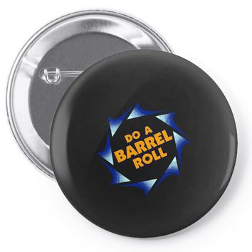 barrel roll Pin-back button