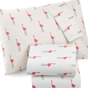 Martha Stewart Whim Collection Novelty Print 200 Thread Count Full Sheet Set, Only at Macy;s