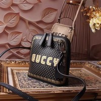 GUCCI WOMEN'S HOT STYLE LEATHER GUCCY INCLINED SHOULDER BAG